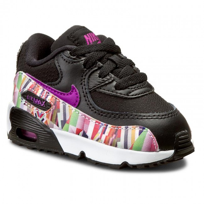 Nike Air Max 90 Womens Shoes New Black Pink Print On Sale