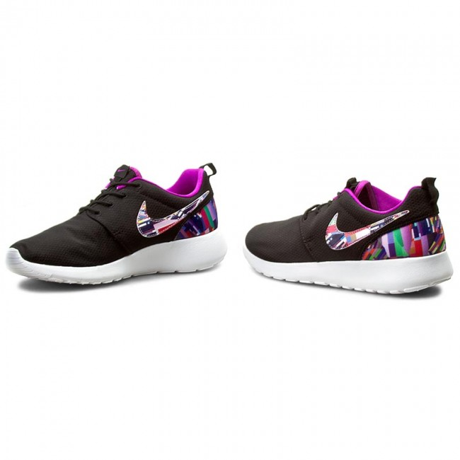 official official shop new arrival Shoes NIKE - Roshe One Print (Gs) 677784 004 Black/Hyper Violet ...