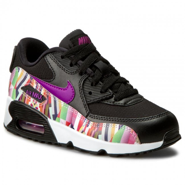 Shoes NIKE Air Max 90 Print Mesh Ps 833498 001 BlackHyper Violet