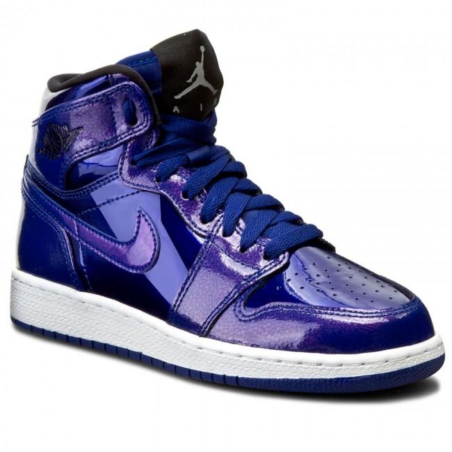 Shoes NIKE , Air Jordan 1 Retro High Bg 705300 420 Deep Royal  Blue/Black/White