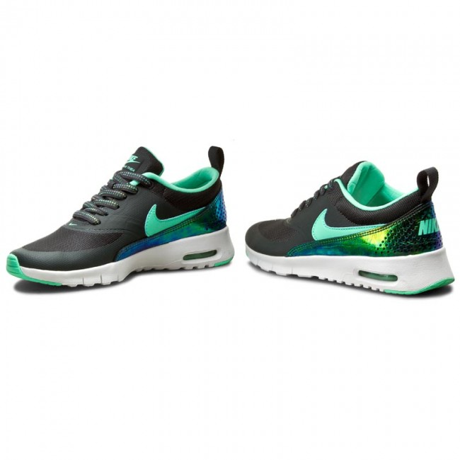 Shoes NIKE Air Max Thea Se (Gs) 820244 002 AnthraciteGreen Glow