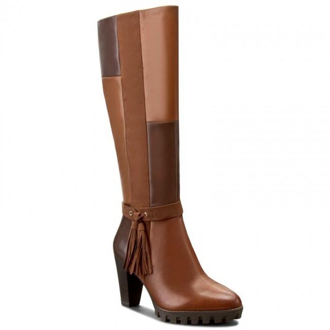 Tamaris women's 25533 long boots brown muscat comb 354 shoes