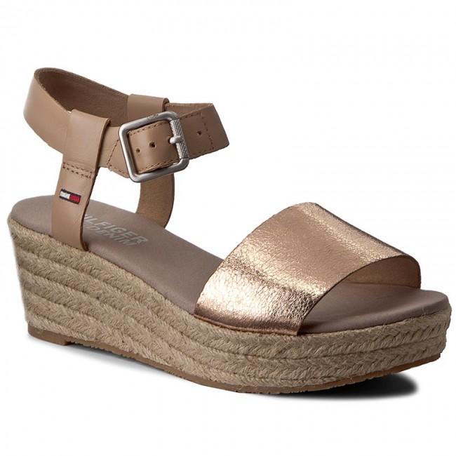 a3189bca Espadrilles TOMMY HILFIGER - DENIM Lory 1C FW0FW00990 Rose Gold/Nude 903 -  Espadrilles - Mules and sandals - Women's shoes - efootwear.eu