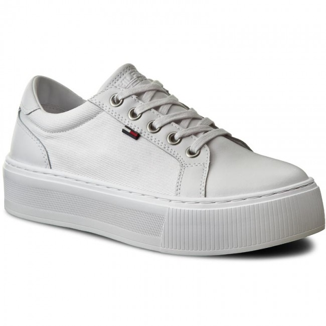 utvärderings Fördrag analog  Sneakers TOMMY HILFIGER - DENIM Dolly 1C1 FW0FW01030 White 100 ...