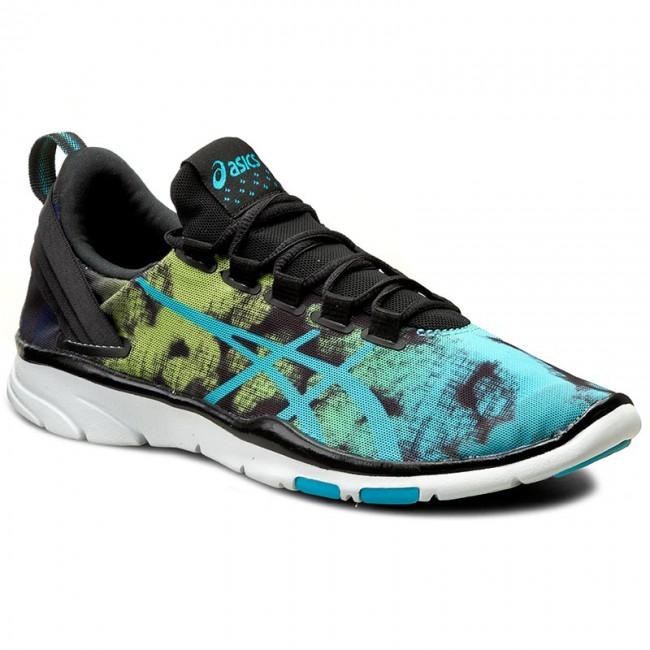 Shoes ASICS - Gel-Fit Sana 2 S652N Black/Aquarium/Neon Lime 9039