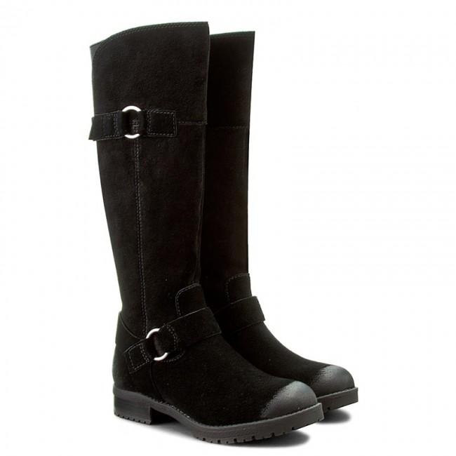 knee high boots clarks faralyn 261215884 black