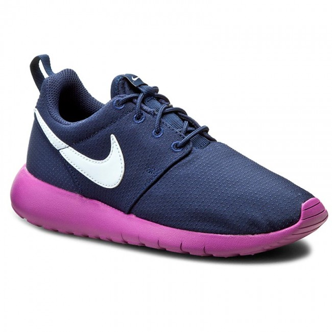GS Nike Roshe One Youth Girl/'s Athletic Shoes Navy//Purple//White 599729 407