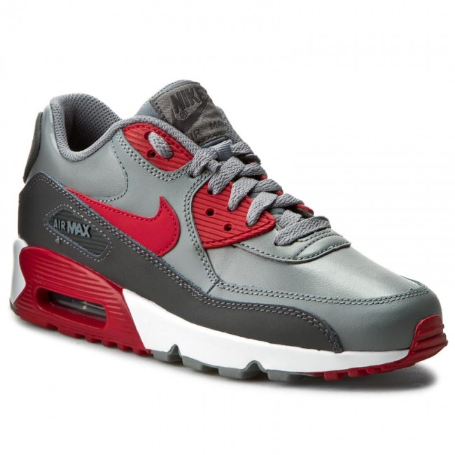 Shoes NIKE - Air Max 90 Ltr (GS) 833412 007 Cool Grey/Gym Red/Anthracite/White
