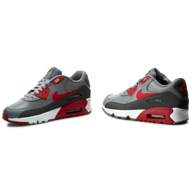 Shoes NIKE Air Max 90 Ltr (GS) 833412 007 Cool GreyGym RedAnthraciteWhite