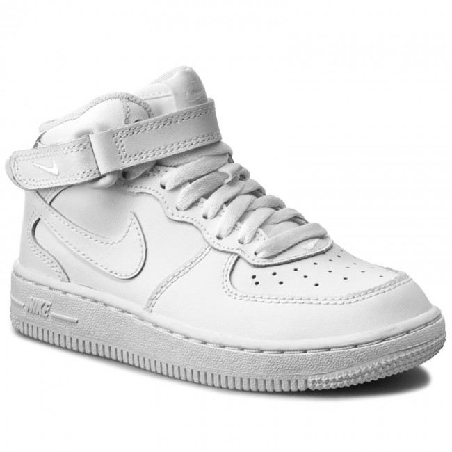 Shoes NIKE Force 1 Mid (PS) 314196 113 WhiteWhiteWhite