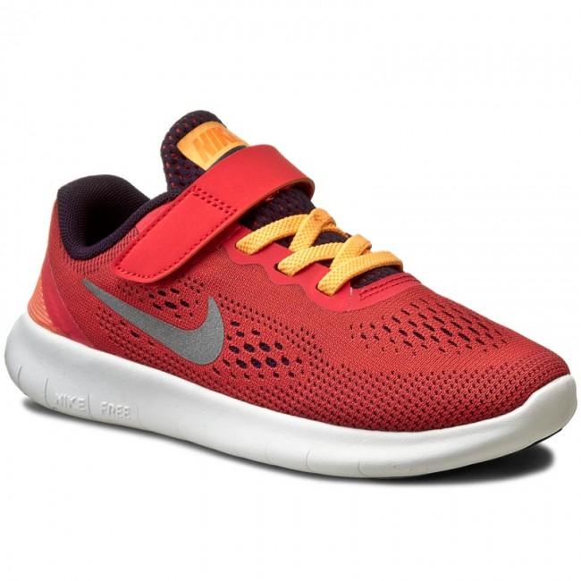 Kids Nike Free RN PSV Shoes NIKE - Free Rn (Psv) 833995 801 Ember Glow/Metallic Silver ...