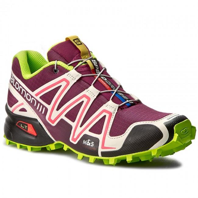 Shoes SALOMON Speedcross 3 W 379302 Mystic PurpleLight GreyGranny Green