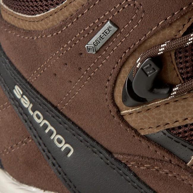 Trekker Boots SALOMON Authentic Ltr Gtx GORE TEX 394668 27 V0 Black CoffeeChocolate BrownVintage Khaki