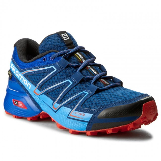 Shoes SALOMON Speedcross Vario GTX 390548 27 W0 Blue DepthBlue YonderLava Orange