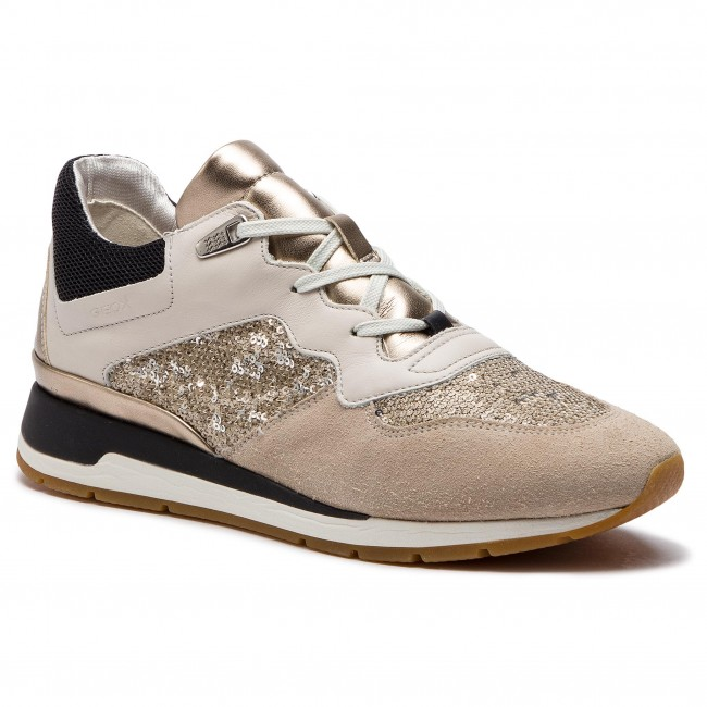 Sneakers GEOX D Shahira B D62N1B 085AT C1181 Off WhiteLt Taupe