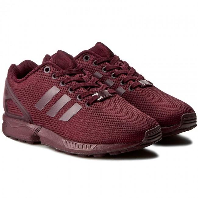 Shoes Adidas Zx Flux Bb2181 Maroon Ftwwht Cblack
