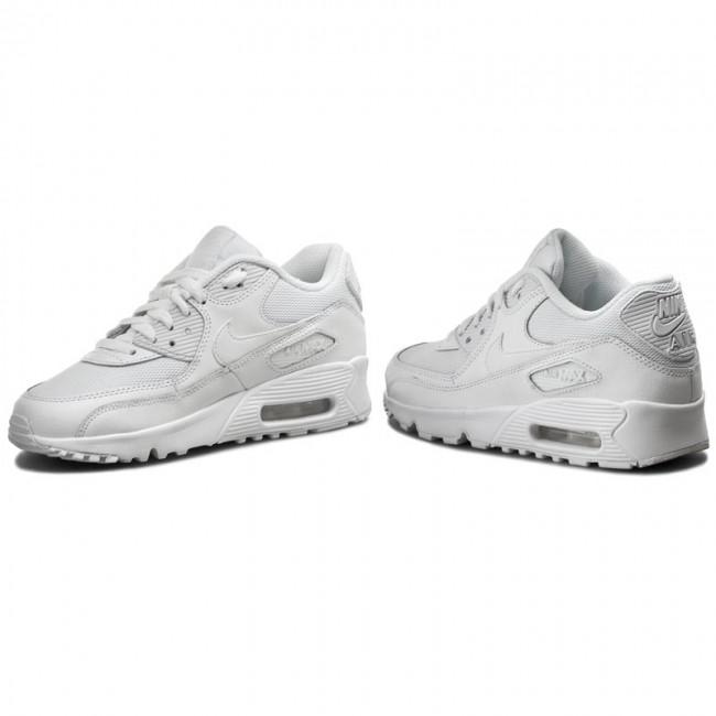 Shoes NIKE Air Max 90 Mesh (GS) 833418 100 WhiteWhite