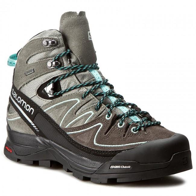 Trekker Boots SALOMON X Alp Mid Ltr Gtx W GORE TEX 394732 21 V0 ShadowCastor GrayAruba Blue
