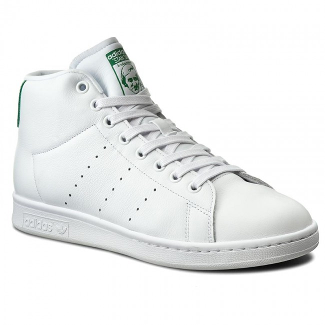 Shoes adidas - Stan Smith Mid BB0069 Ftwwht/Ftwwht/Green