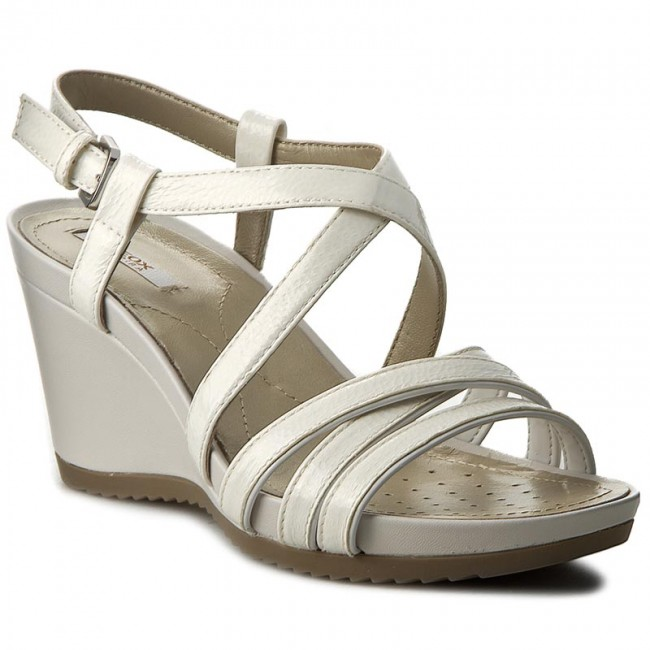 Sandals GEOX D New Rorie B D72P3B 0PVHH C1002 SzaryBiały