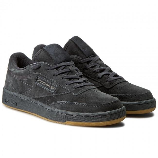 shoes reebok club c 85 tg bd1885 lead black sneakers. Black Bedroom Furniture Sets. Home Design Ideas