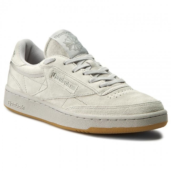 Shoes Reebok Club C 85 Tg Bd1886 Steel Carbon Gum Sneakers Low Shoes Men S Shoes Efootwear Eu