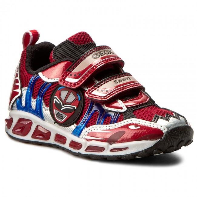 extraño Bloquear Advertencia  Shoes GEOX - J Shuttle B. B J7294B 014CE C7213 Czerwony/Królewski - Velcro  - Low shoes - Boy - Kids' shoes   efootwear.eu