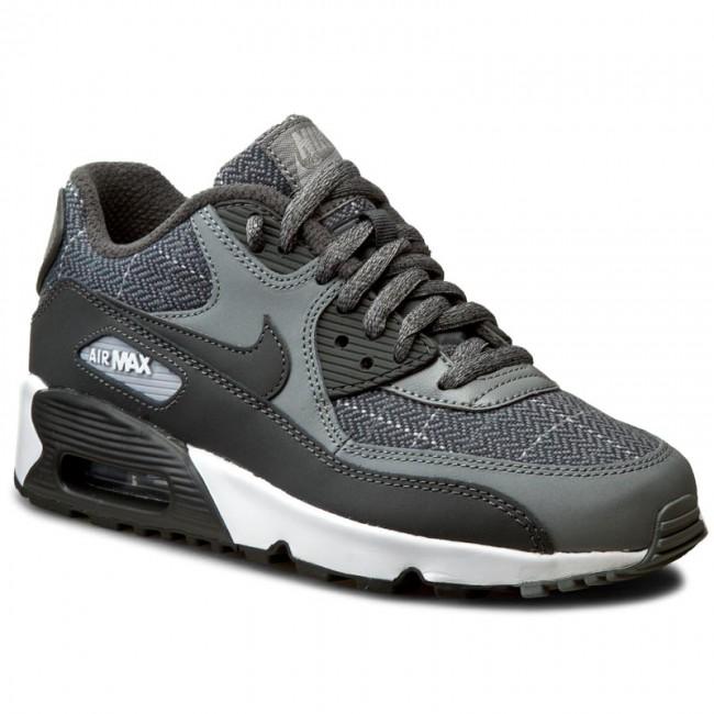Shoes NIKE Air MAx 90 Se Ltr (Gs) 859560 001 Cl GryAnthrctWlf GryWhite