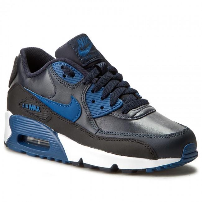 Shoes NIKE Air Max 90 Ltr (GS) 833412 402 Dark ObsidianCrt BlBlkWhite