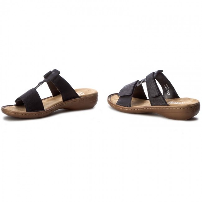 Slides Rieker - 60885-00 Black Casual Mules And Sandals Women's Shoes