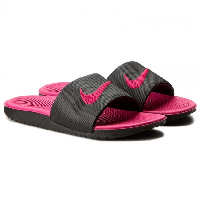 Slides Nike Kawa Slide Gs Ps 819353 001 Black Vivid