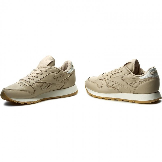 Shoes Reebok Cl Lthr Met Diamond BD4424 OatmealChalkGum