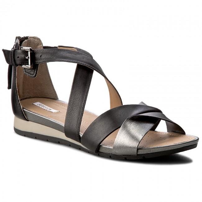 calidad primero varios tipos de marcas reconocidas Sandals GEOX - D Formosa A D7293A 085NF C9B1G Black/Gun - Casual ...