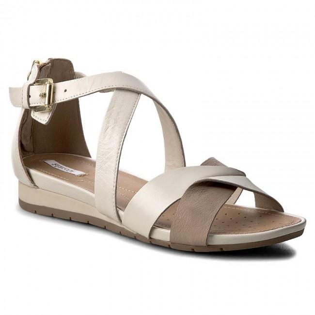 disfruta del precio inferior exuberante en diseño colores armoniosos Sandals GEOX - D Formosa A D7293A 0BV85 C1181 Off White/Lt Taupe ...