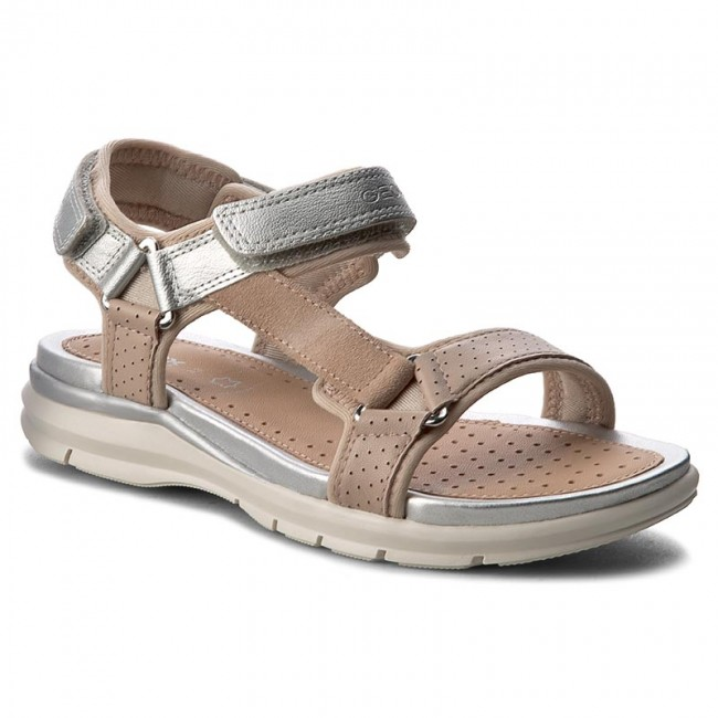 62c00133 Sandals GEOX - J Sand Sukie G. D J720VD 05422 CA51W Skin/Silver