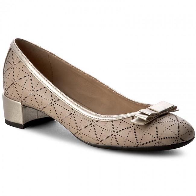 Shoes GEOX - D Carey A D72V8A 085NF CH62L  Lt Taupe/Lt Gold