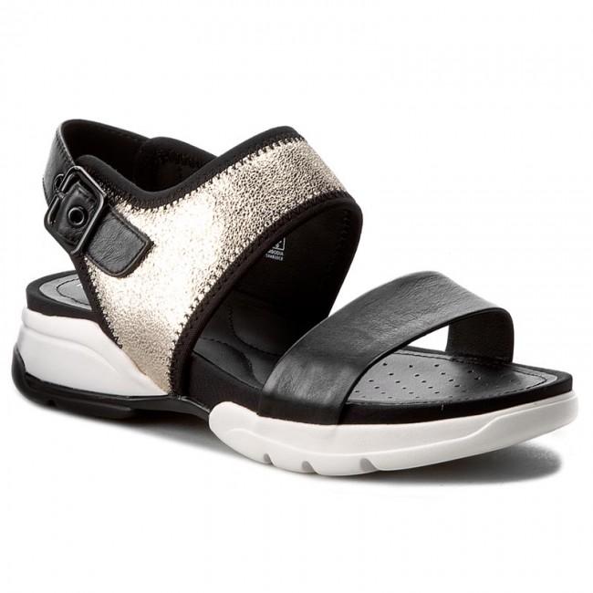 Sandals GEOX - D.Sand.Spinge A D725NA 0SK85 C0950  Jasny Złoty/Czarny
