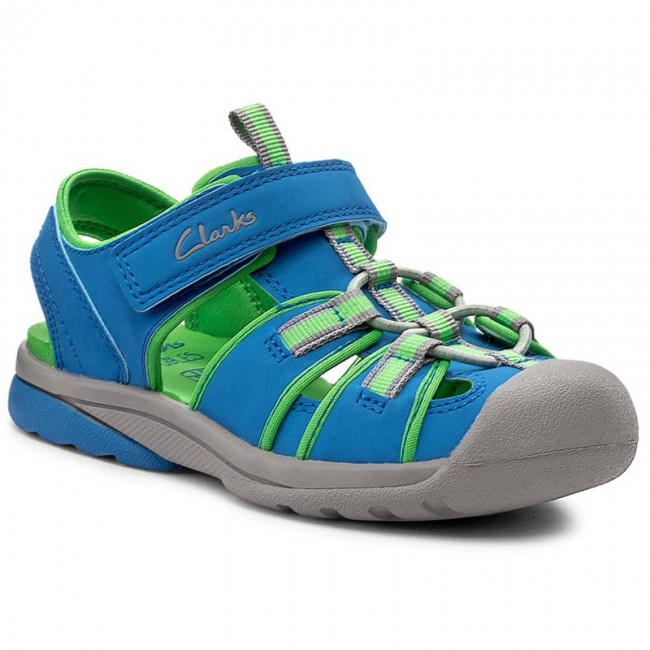 Sandals CLARKS - Beach Mate Inf 261178436 Blue Synthetic