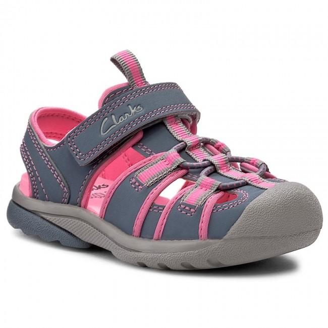 Sandals CLARKS - Beach Tide Fst 261174246 Grey Combi