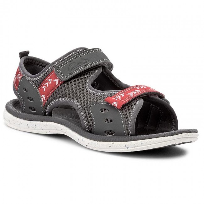 Sandals CLARKS - PiranhaBoy Inf 261245036 Grey Synthetic