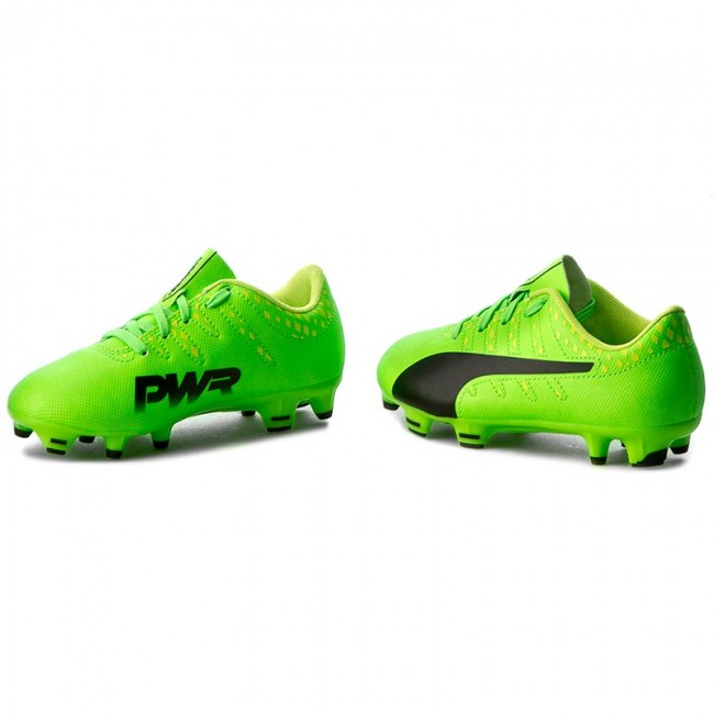 Shoes PUMA EvoPower Vigor 4 Fg Jr 103972 01 GreenBlackYellow