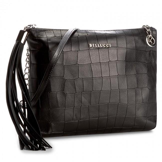 Handbag BELLUCCI - R-315 Czarny Krok/Wąż
