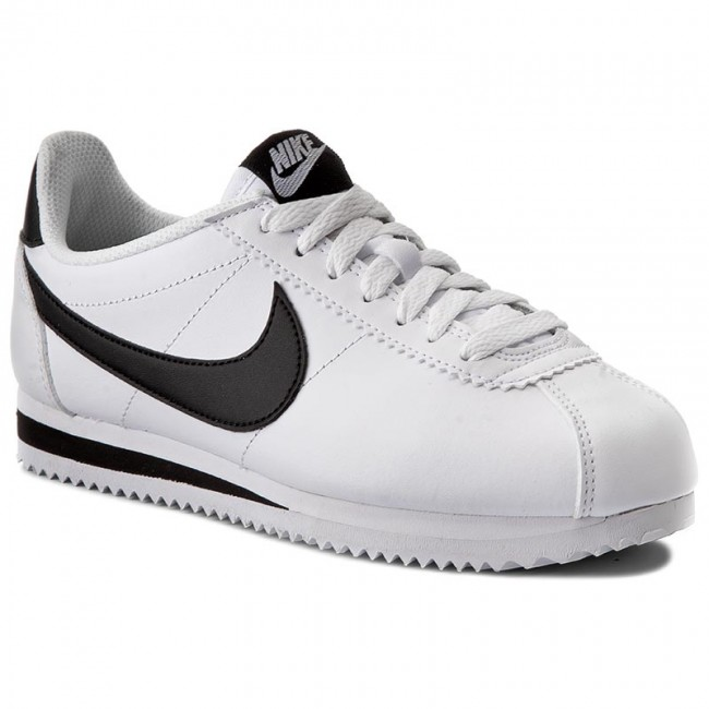 release date: 04d98 b94e9 Shoes NIKE - Classic Cortez Leather 807471 101 White Black White - Sneakers  - Low shoes - Women s shoes - efootwear.eu