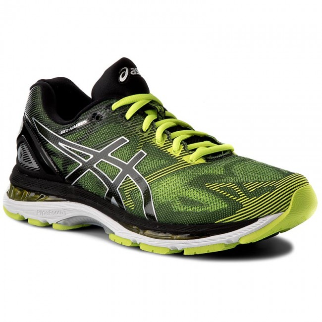 Shoes ASICS Gel Nimbus 19 T700N BlackSafety YellowSilver 9007
