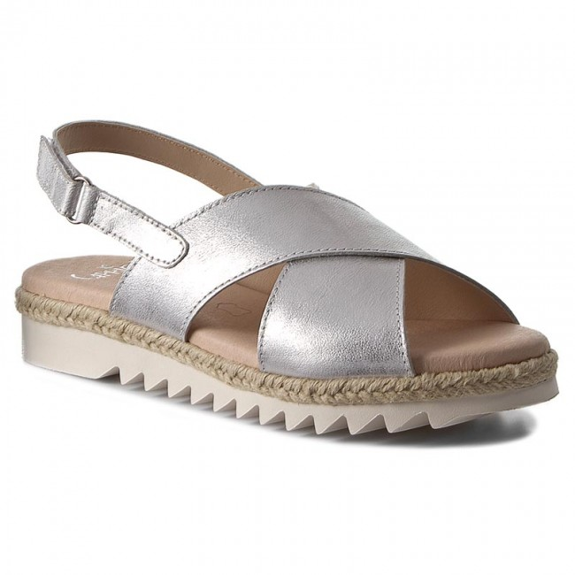 online store 483ed 9175c Espadrilles CAPRICE - 9-28614-38 Silver Metal. 920