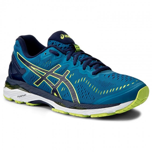 purchase cheap 23cb5 1b9b4 Shoes ASICS - Gel-Kayano 23 T646N Thunder Blue/Safety Yellow ...