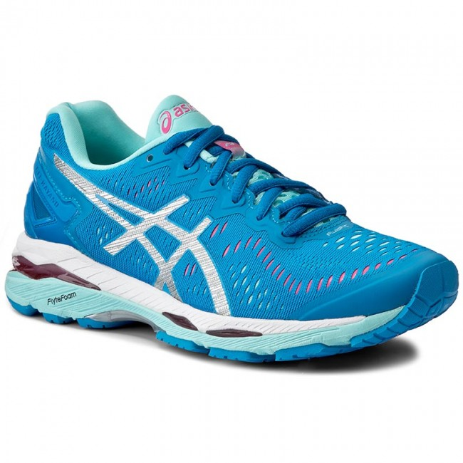 Shoes ASICS Gel Kayano 23 T696N Diva BlueSilverAqua Splash 4393