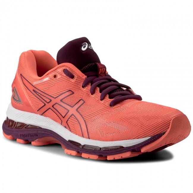 Shoes ASICS Gel Nimbus 19 T750N Flash CoralDark PurpleWhite 0632