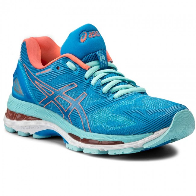 best service 6243b 3dc0e Shoes ASICS - Gel-Nimbus 19 T750N Diva Blue/Flash Coral/Aqua Splash 4306
