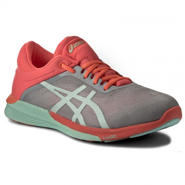 Shoes ASICS FuzeX Rush T768N MidgreyBayFlash Coral 9690